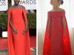 Cô bé 4 tuổi tái hiện trang phục thảm đỏ đẹp như sao