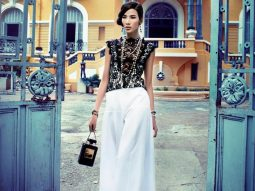 Hoàng Thùy tại hậu trường chụp ảnh Chanel Cruise 2014