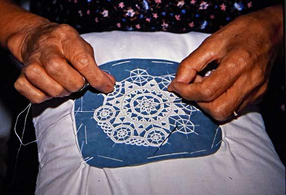 needle-lace-making