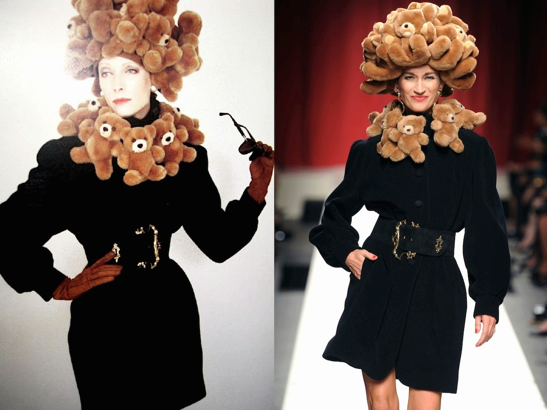 INTO THE ARCHIVES… Moschino's FW 1988--89 and Moschino SS--2014