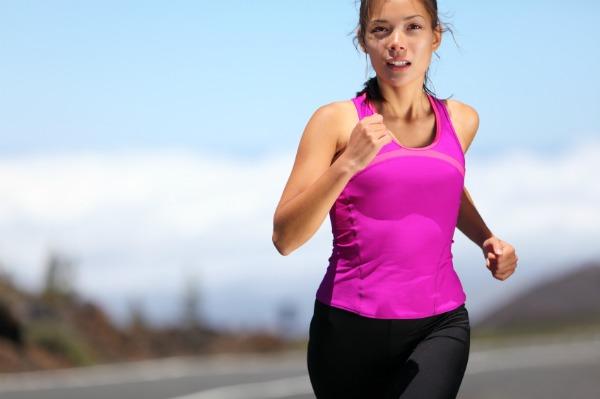woman runner training for marathon