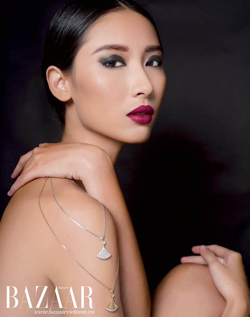 Bộ sưu tập Diva dây chuyền vàng và vàng trắng đính kim cương, Bulgari
