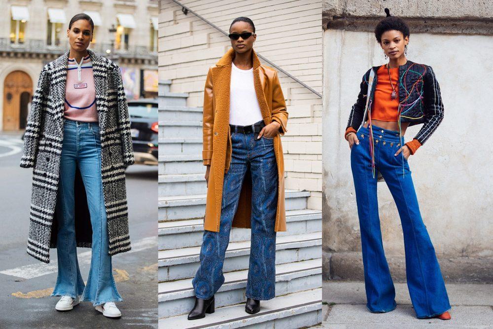 Quần ống loe mặc với áo khoác gì?