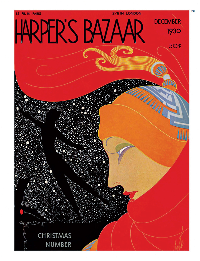 Bìa tạp chí Harper's Bazaar với những đường nét và mảng màu mạnh mẽ