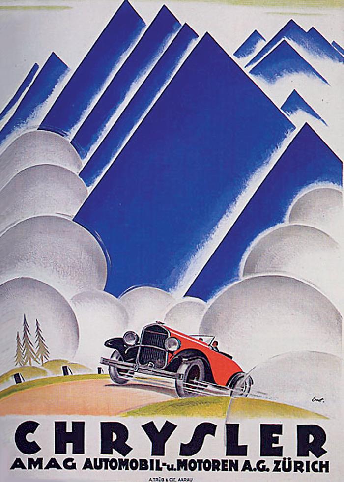 Một poster quảng cáo mang phong cách Art Deco