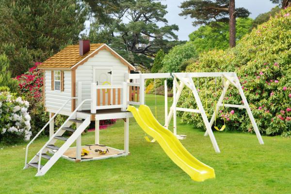 Nên đặt khu vui chơi cho trẻ em trong vườn ở hướng Tây