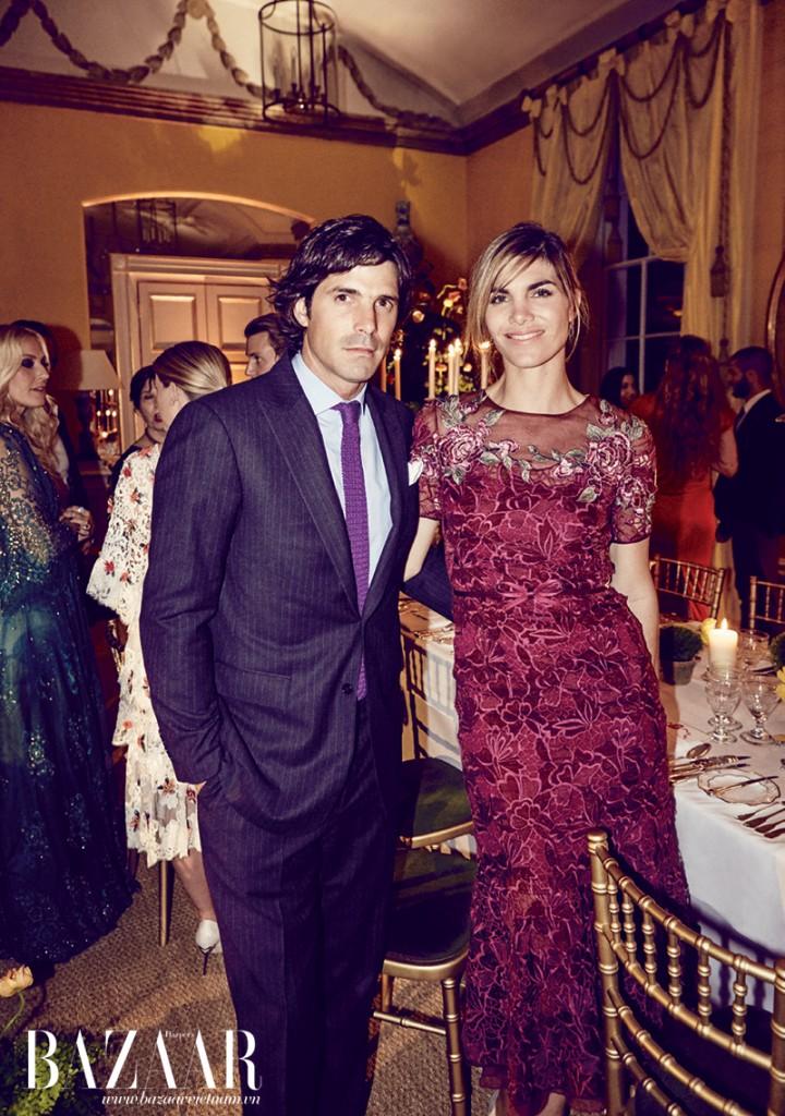 Danh thủ Nacho Figueras và vợ, người mẫu Delfina Blaquier