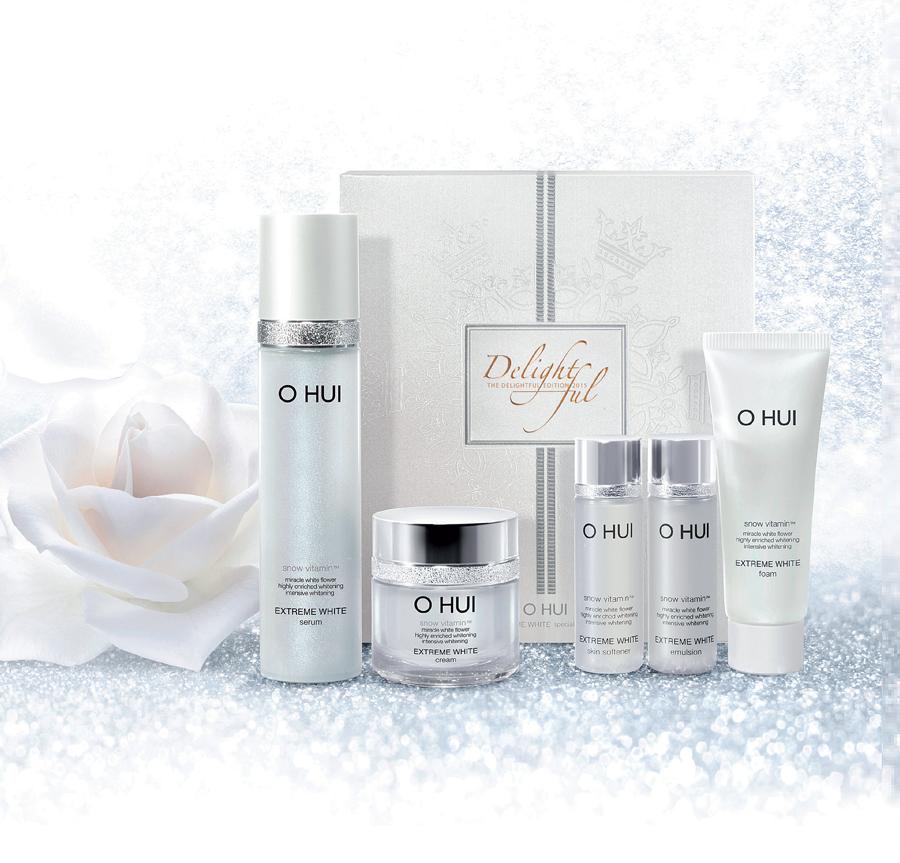 Với O Hui, một vẻ đẹp tỏa sáng với làn da mịn màng như hoa tuyết là điều có thể tạo ra