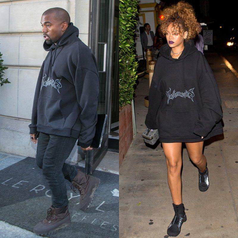 Kayne West và Rihanna từng mặc thiết kế áo hoodie của Vetements