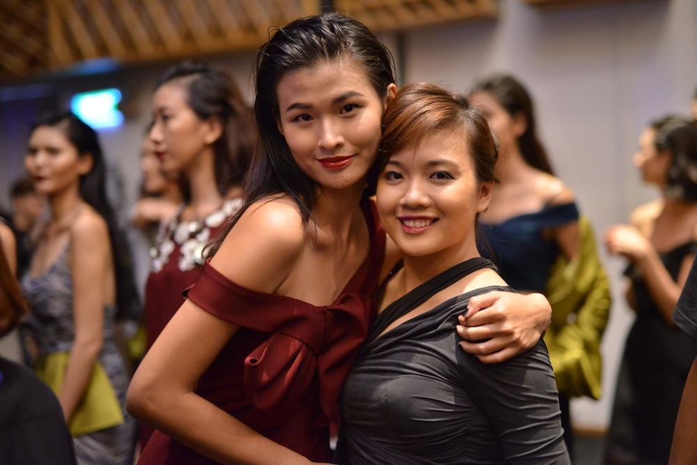 Người mẫu Thiên Trang và NTK Giao Linh tại Tuần lễ Thời trang Quốc tế Việt Nam 2015
