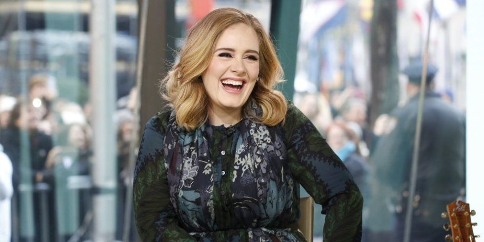 Nụ cười đặc trưng của Adele