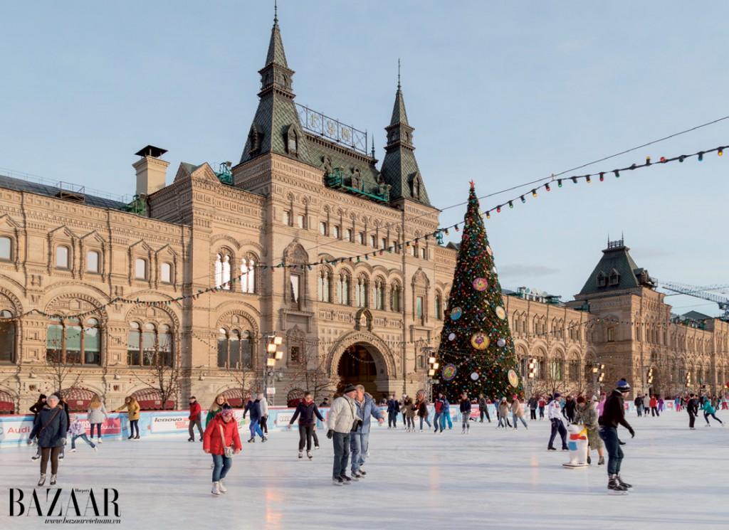 Không khí Giáng sinh ở quảng trường Đỏ