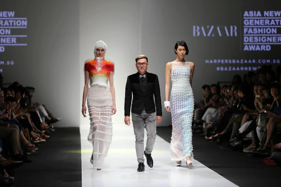 Châu Chấn Hưng tham gia Asia New Generation Fashion Designer Awards tại Singapore do Harper's Bazaar tổ chức
