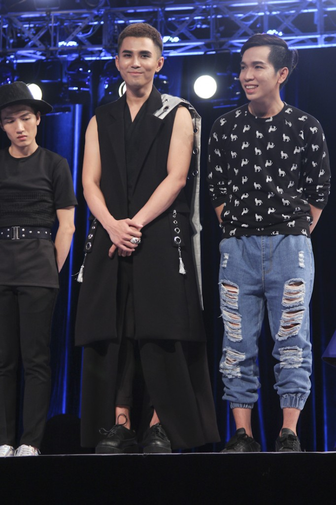 PROJECT-RUNWAY-VIETNAM-2015-TAP3-NTK Anh Minh va ca si Will chien thang trong tap 3(1)