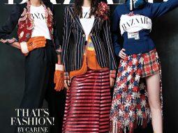 Carine Roitfeld biến đồng phục thành những bộ cánh thời trang