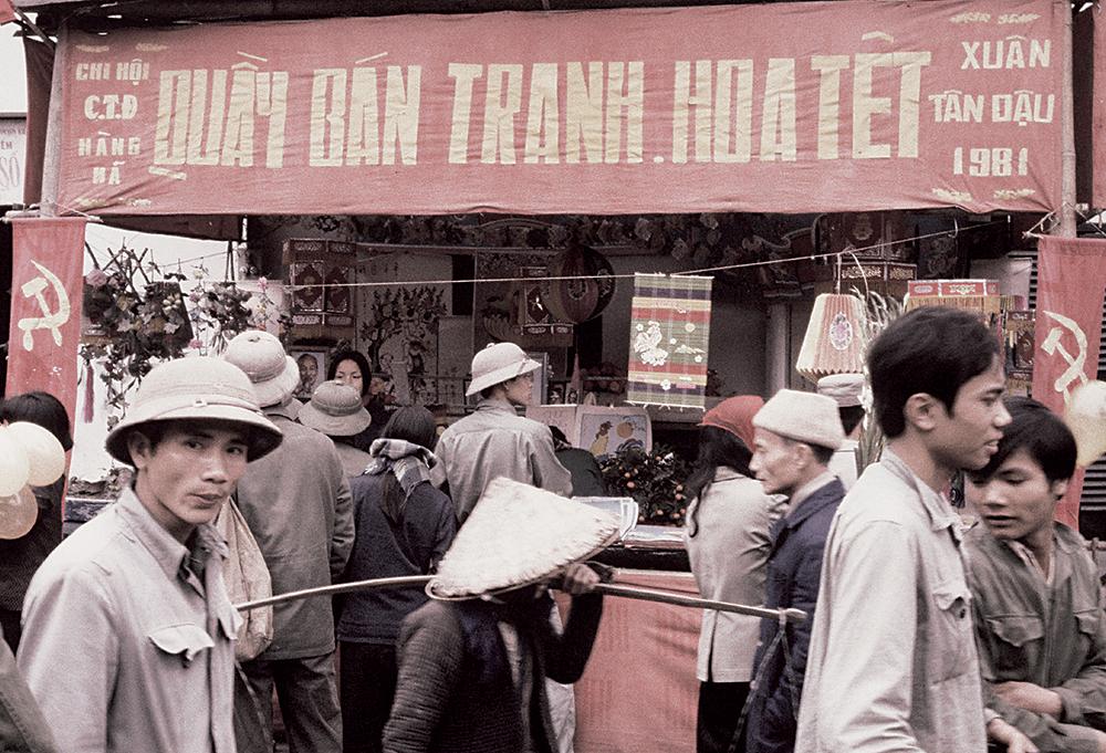 Một góc quen thuộc của chợ Tết xưa mình