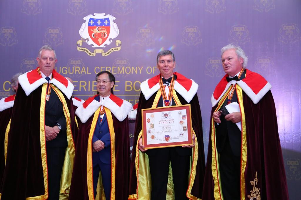 Từ trái qua: ông Francis Boutemy, ông Vincent Cheung, ông Alain Cany và ông Hubert de Boüard