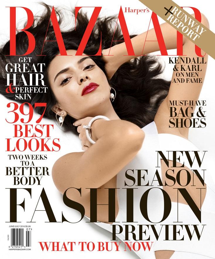 Harper's Bazaar của Mỹ có ảnh bìa của mỹ nhân đình đám Kendall Jenner