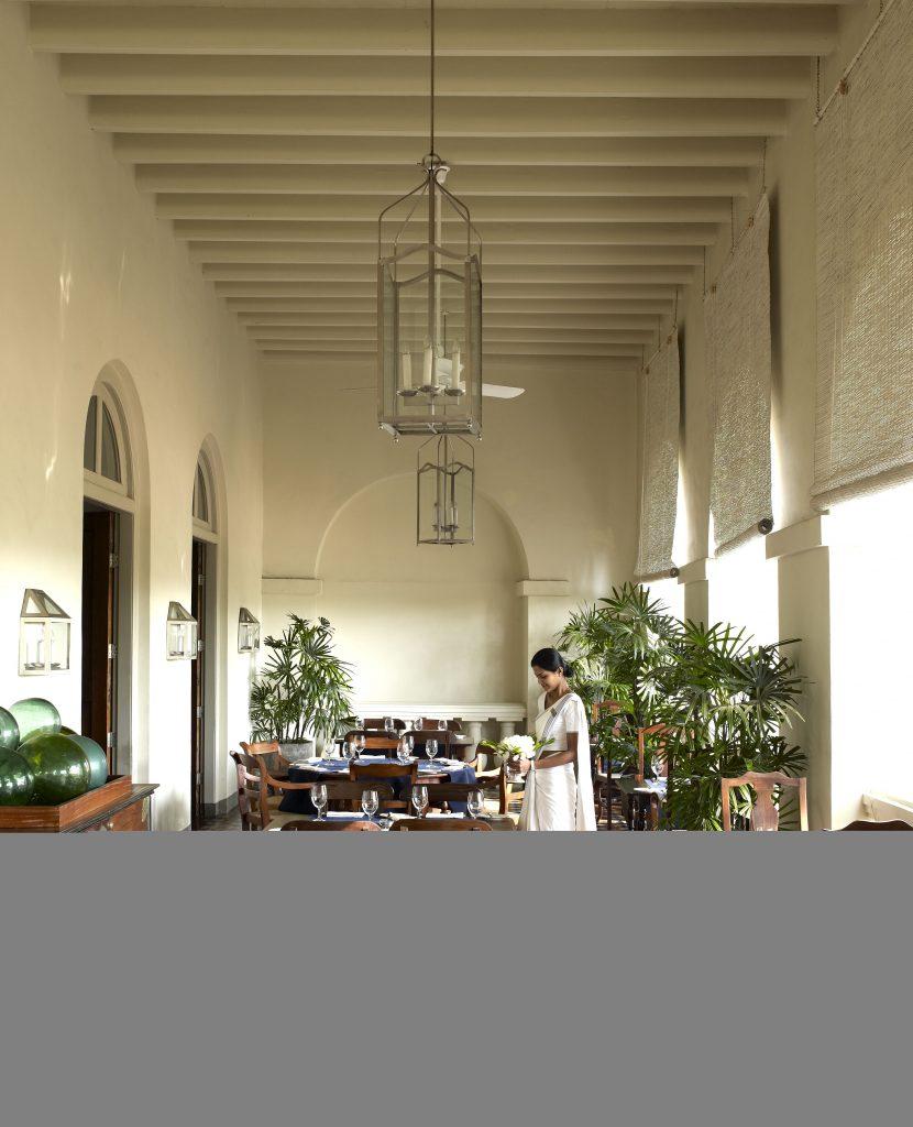Khu nghỉ dưỡng Amangalla nằm trong khuôn viên bán đảo Galle, Sri Lanka được nhắc đến như một pháo đài 400 tuổi. Nơi đây được UNESCO công nhận là di sản văn hóa thế giới