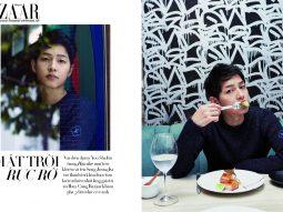 Đại úy Yoo Shi Yin của Hậu duệ mặt trời tỏa sáng trong bộ ảnh độc quyền cho Harper's Bazaar Korea