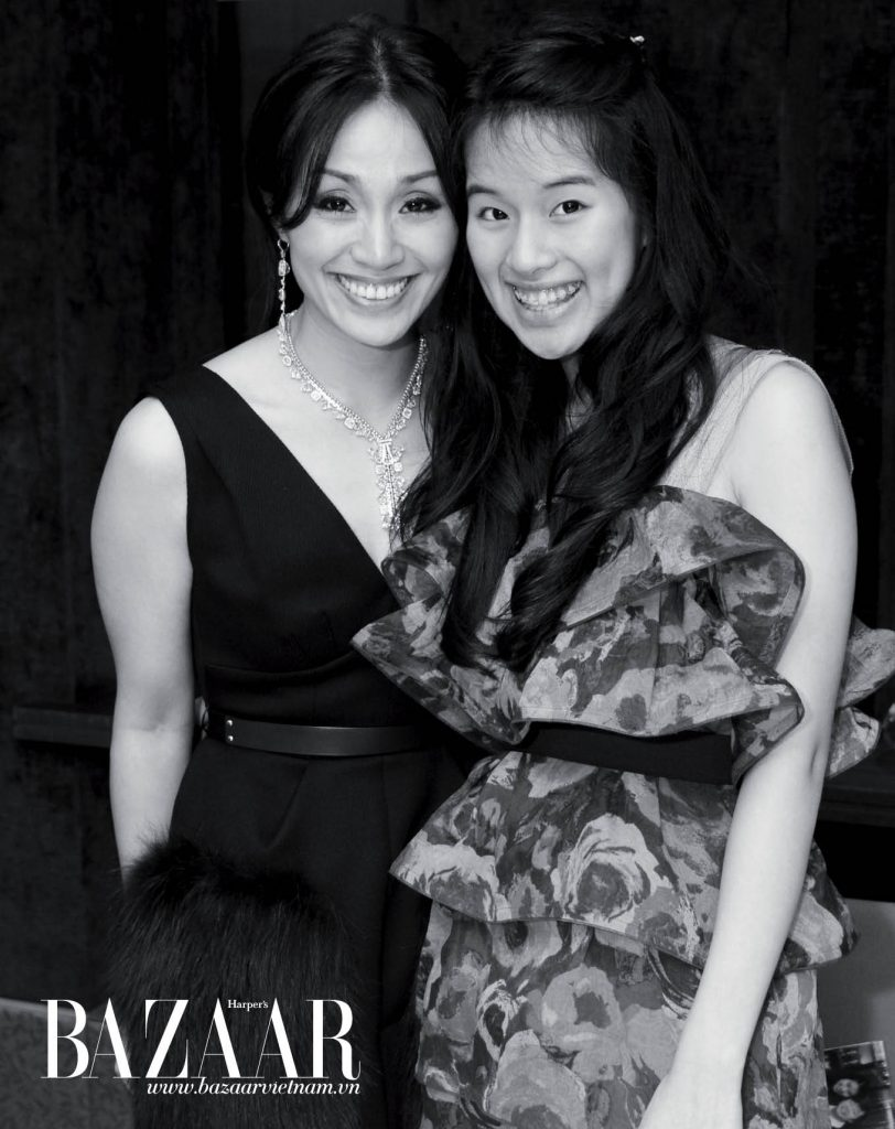 Nữ doanh nhân Tanny Kea cùng con gái Arianne