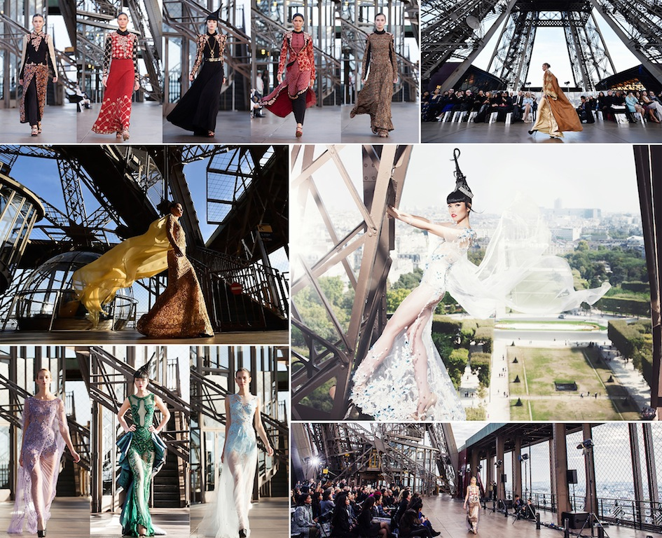 J Autumn Fashion Show on Eiffel Tower by Jessica Minh Anh
