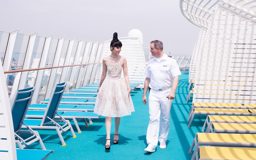 Jessica Minh Anh visits Aida Cruises in Venice 10