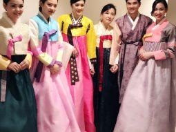 Vương Thu Phương thích thú khi lần đầu tiên mặc Hanbok và thấy tuyết rơi