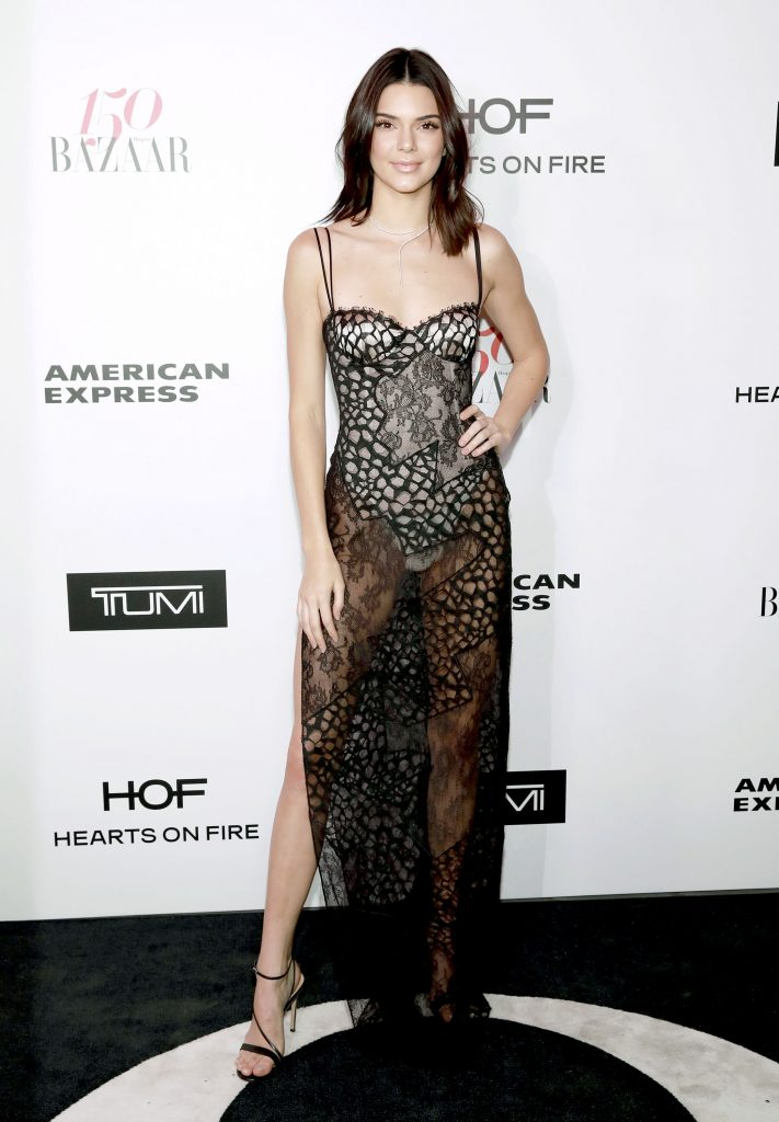 WEST HOLLYWOOD, CA - JANUARY 27: Kendall Jenner attends Harper's BAZAAR celebration of the 150 Most Fashionable Women presented by TUMI in partnership with American Express, La Perla, and Hearts On Fire at Sunset Tower Hotel on January 27, 2017 in West Hollywood, California. (Photo by Rachel Murray/Getty Images for Harper's Bazaar)