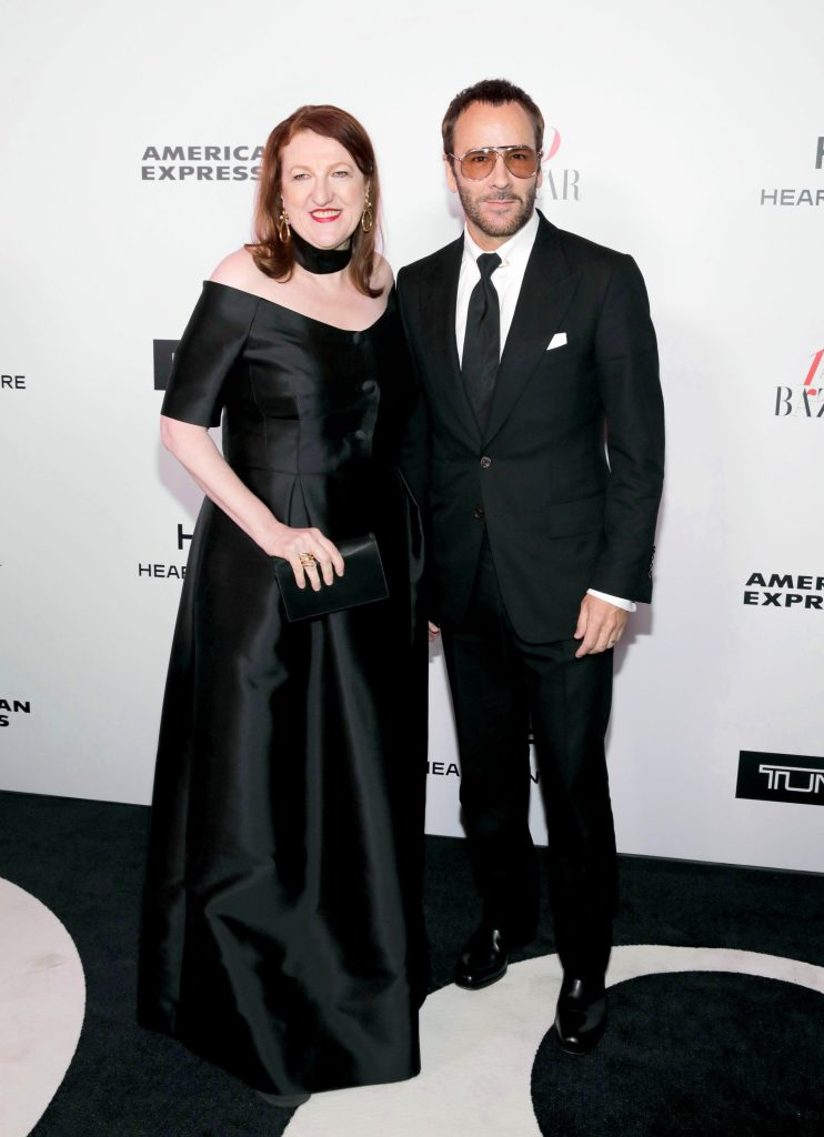 WEST HOLLYWOOD, CA - JANUARY 27: Editor-in-chief, Harper's Bazaar, Glenda Bailey and Tom Ford attend Harper's BAZAAR celebration of the 150 Most Fashionable Women presented by TUMI in partnership with American Express, La Perla, and Hearts On Fire at Sunset Tower Hotel on January 27, 2017 in West Hollywood, California. (Photo by Rachel Murray/Getty Images for Harper's Bazaar)