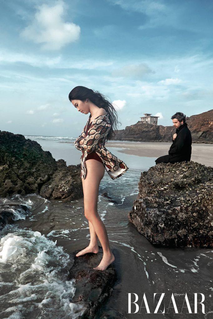 Mẫu nam: Áo khoác, Lider. Mẫu nữ: Bodysuit, XITA. Blazer, Hà Trương