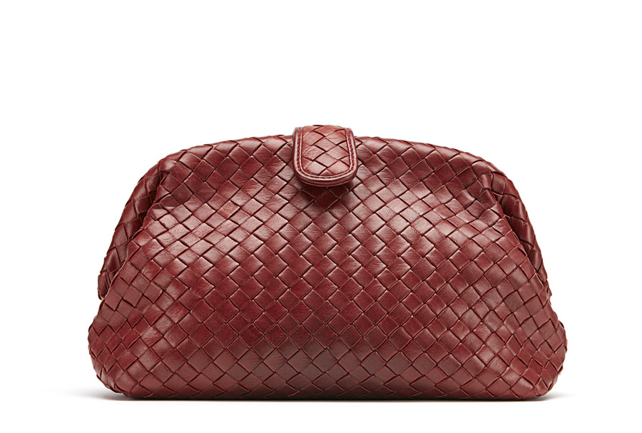 BOTTEGA VENETA THE LAUREN 1980 IN INTRECCIATO NAPPA GIGOLO RED