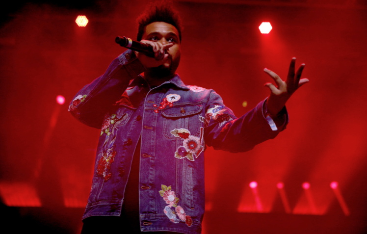 The Weeknd in Saint Laurent