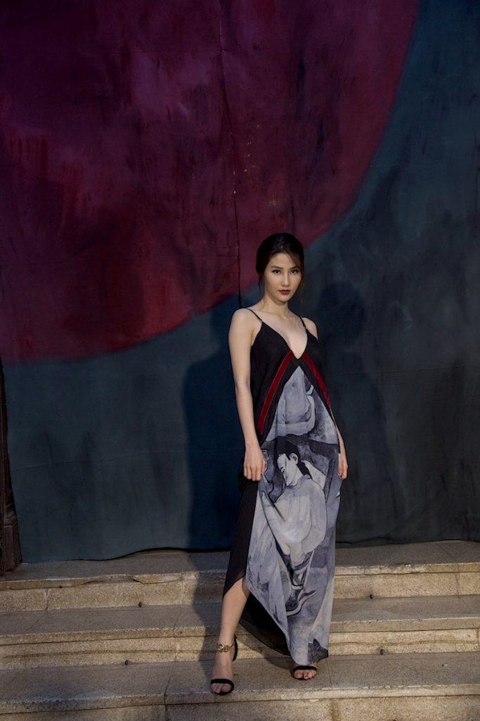 """Nữ diễn viên Diễm My 9X trong mẫu thiết kế mới nhất của """"Màu Lam"""""""