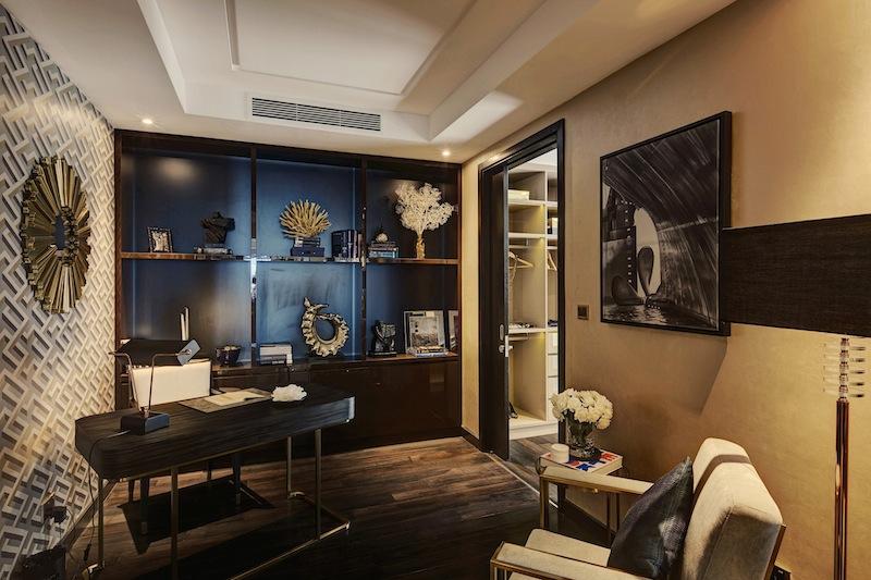 Phòng làm việc trong căn hộ 4 phòng ngủ của D1MENSION