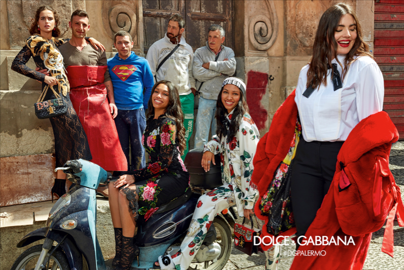Hình ảnh quảng bá bộ sưu tập Dolce&Gabbana Thu Đông 2017 được chụp trên đường phố Palermo