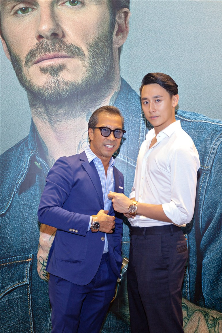 Nam ca sĩ, diễn viên Rocker Nguyễn và Fashionista Thuận Nguyễn bị thu hút bởi thiết kế tinh xảo và kỹ thuật chế tác đỉnh cao của Tudor.