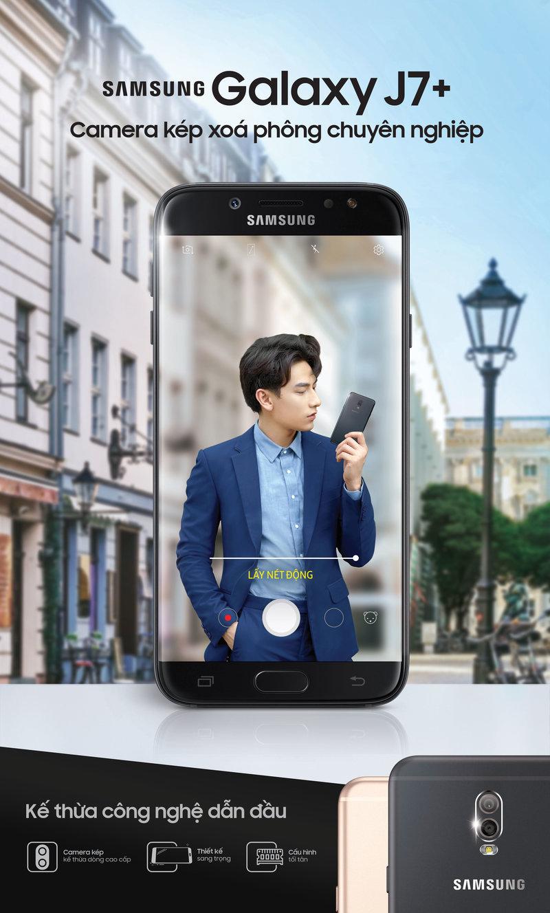 Samsung ra mắt điện thoại Galaxy J7+ 3