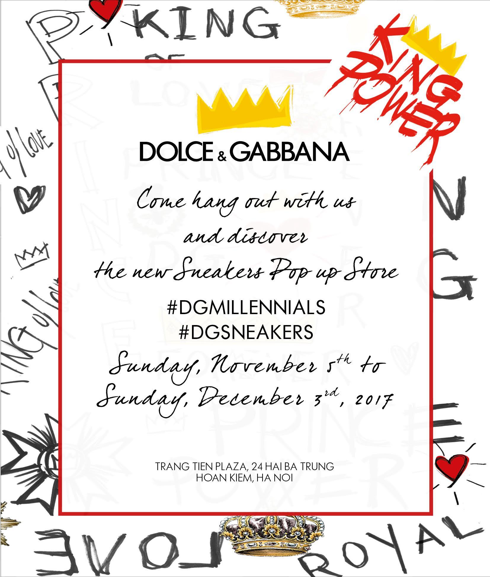 sneaker pop-up store cua dolce & Gabbana 09