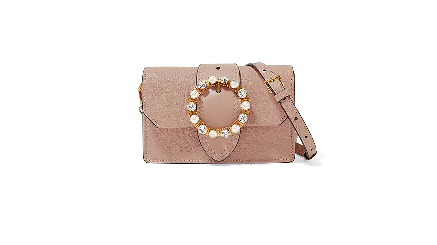 Miu Miu Embellished Miu Lady Cross-Body Bag