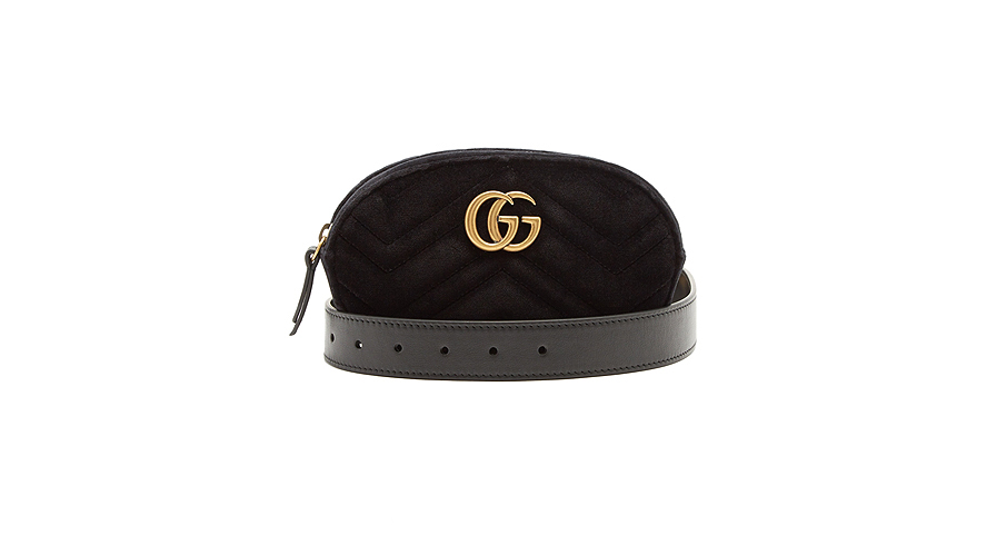 Gucci GG Marmont Quilted Velvet Belt Bag