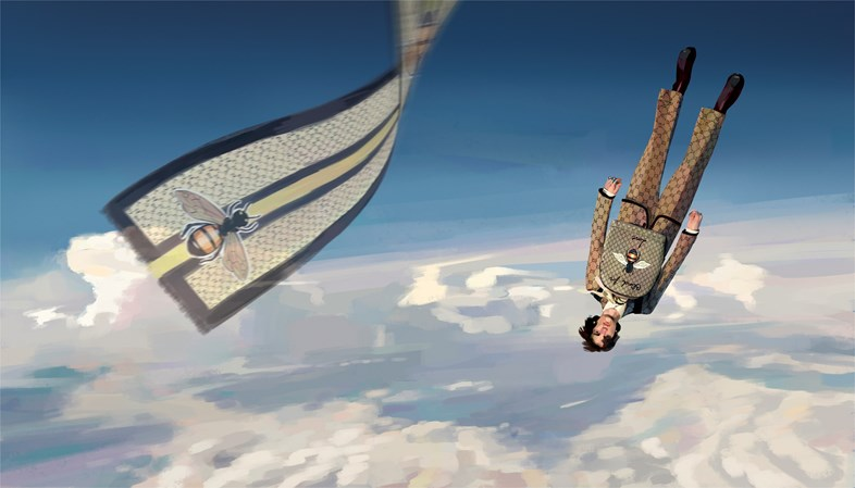 Icarus still falling. Lấy cảm hứng từ series truyền hình Paranoia Agent của Satoshi Kon.