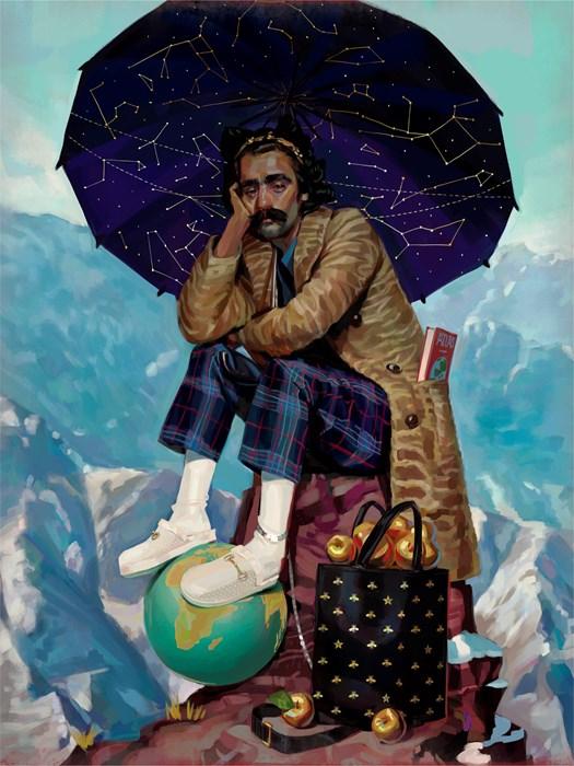 Titan Atlas. Bị thần Zeus trừng phạt phải gánh cả bầu trời trên vai. Ông đang mặc pijama vì làm việc tại gia.