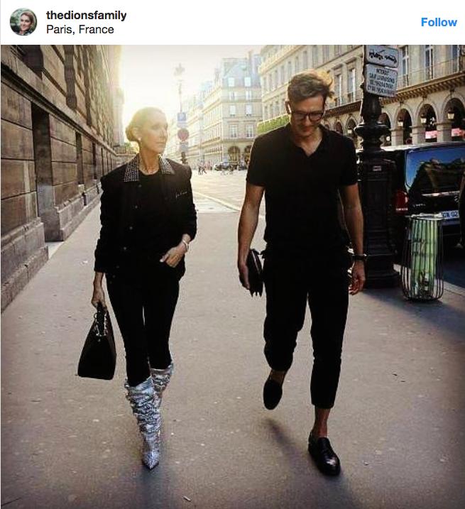 Céline Dion trong chuyến đi đến Paris