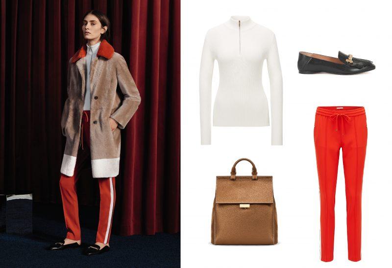 Bí quyết thời trang của Hugo Boss: (1) Áo chui đầu cổ lọ; (2) Giày da đế thấp; (3) Quần thể thao ôm vừa; (4) Túi da.