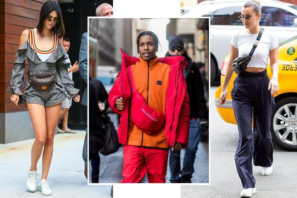 Từ trái qua: Kendall Jenner; A$AP Rocky; Bella Hadid.