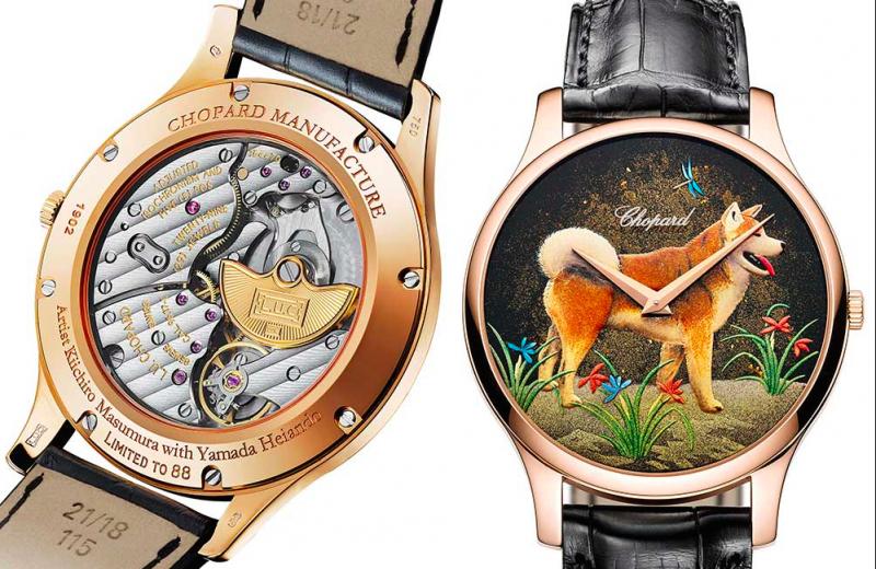 Đồng hồ chạm khắc hình tượng chó của Chopard