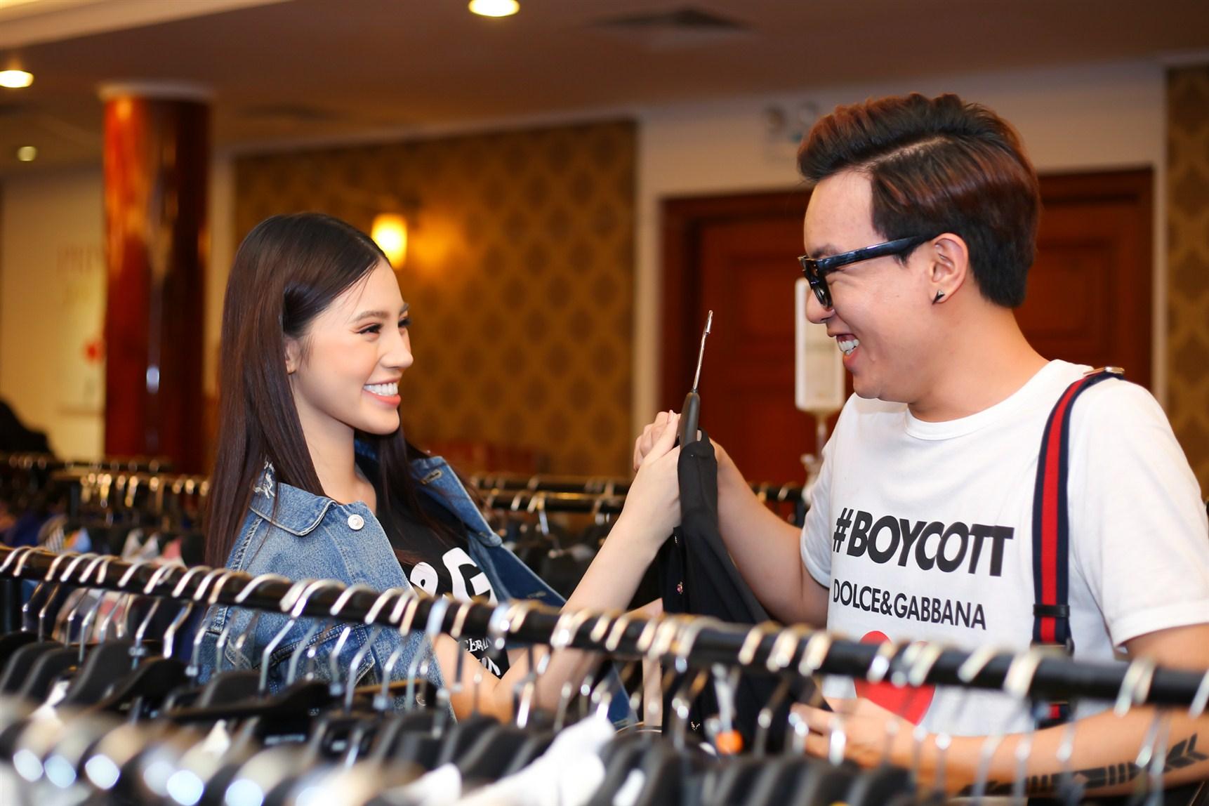 Jolie Nguyễn đi mua sắm cùng stylist Huy Mạch