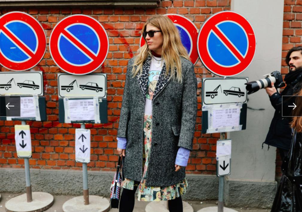 Veronika Heilbrunner trong trang phục Prada