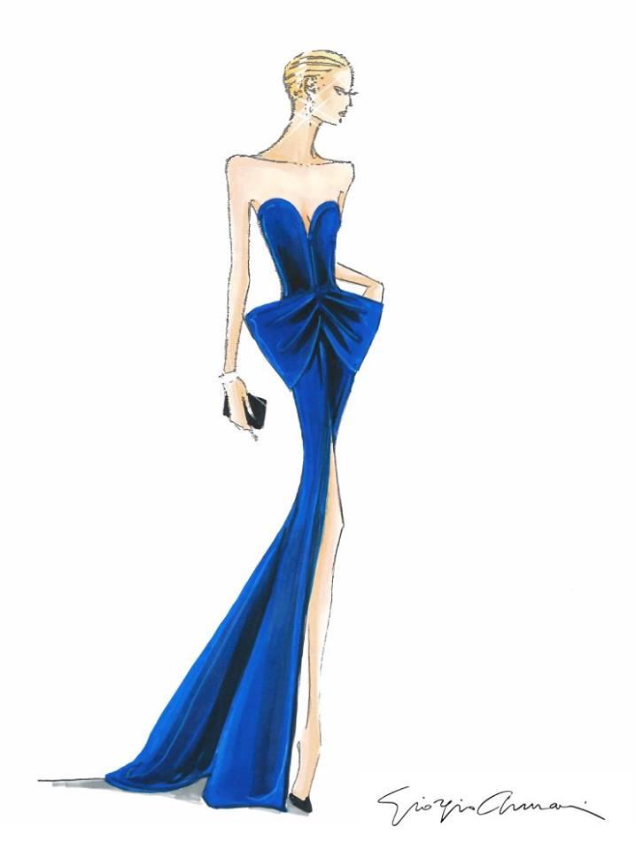 Bản thiết kế đầm dạ hội của Nicole Kidman tại đêm trao giải Oscar.